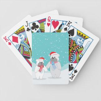 polar bear B Bicycle Playing Cards
