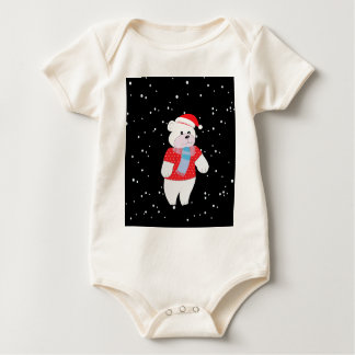 polar bear baby bodysuit