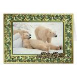 Polar Bear Blank Christmas Card