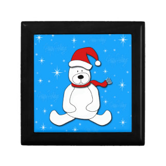 Polar bear - blue gift box