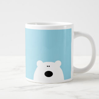 Polar Bear Blue Large Coffee Mug