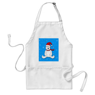 Polar bear - blue standard apron
