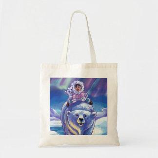 Polar Bear Bus Canvas Bag