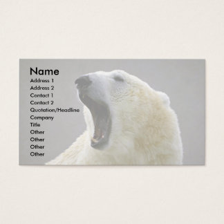 Polar bear business card