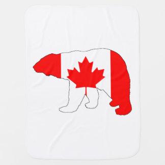 "Polar bear ""Canada"" Baby Blanket"