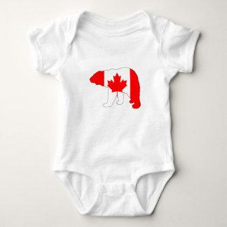 """Polar bear """"Canada"""" Baby Bodysuit"""
