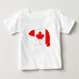 """Polar bear """"Canada"""" Baby T-Shirt"""