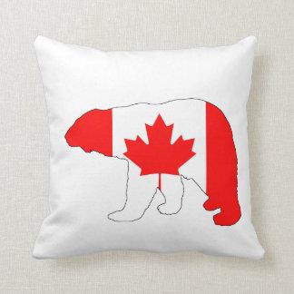 """Polar bear """"Canada"""" Throw Pillow"""