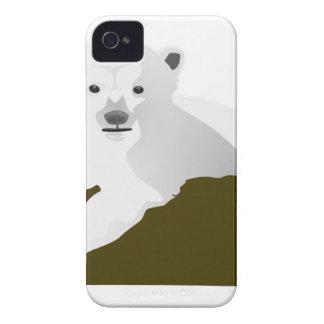 Polar Bear Cartoon iPhone 4 Case