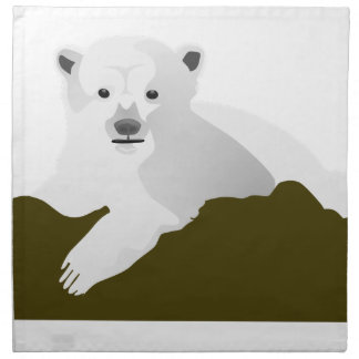 Polar Bear Cartoon Napkin