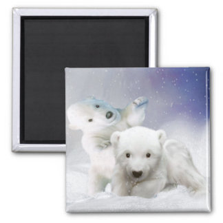 Polar bear children as magnet