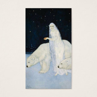 Polar Bear Christmas Gift Tags Cards Edmund Dulac