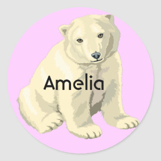 Polar Bear Classic Round Sticker