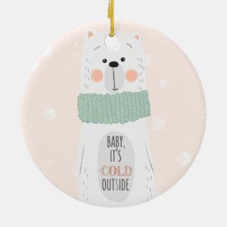 Polar bear | Cold outside Cute Christmas ornament