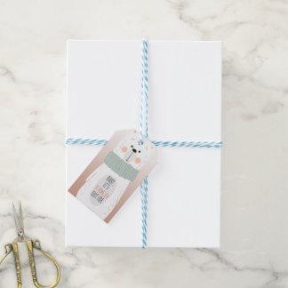 Polar bear - Cold outside - Fun Christmas gift tag
