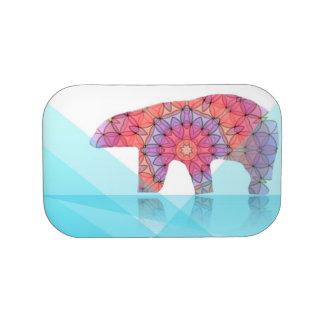 Polar bear colorful lunch box