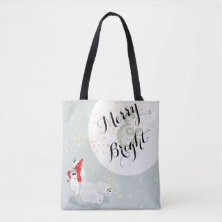 Polar Bear Conehead Merry & Bright Tote Bag
