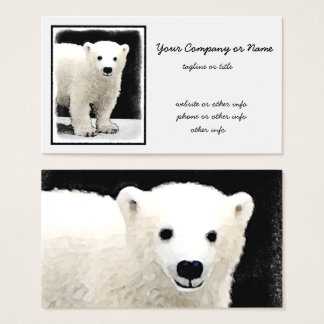 Polar Bear Cub Business Card