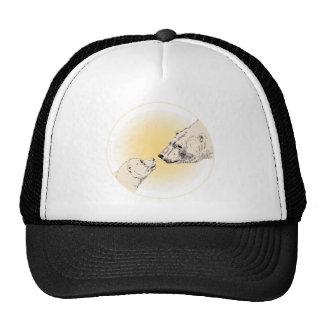 Polar Bear & Cub Caps & Hats Wildlife Art Hat