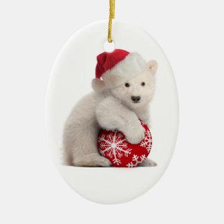 Polar Bear Cub Christmas Ornament