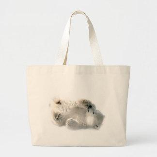 Polar Bear Cub Cute Animal Arctic Frozen Winter Jumbo Tote Bag