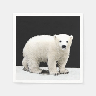 Polar Bear Cub Disposable Serviette