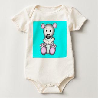 Polar Bear Cub on a Baby Baby Bodysuit