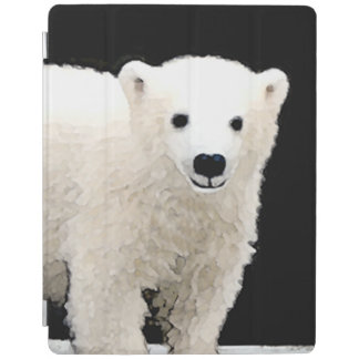 Polar Bear Cub Painting - Original Wildlife Art iPad Smart Cover