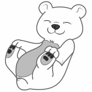 Polar Bear Cub Photo Sculpture Magnet
