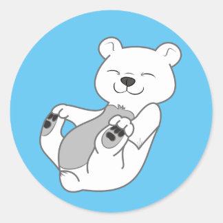 Polar Bear Cub Round Sticker
