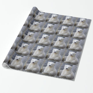 Polar Bear Cub Wrapping Paper