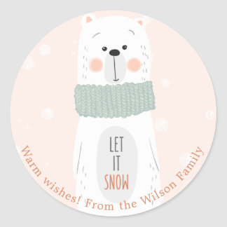 Polar bear - Cute Personalized Christmas Sticker