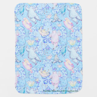 Polar Bear Dance Blue by Edward Huse Baby Blanket