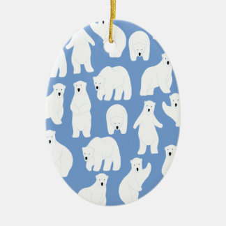 Polar Bear Day - Appreciation Day Ceramic Oval Decoration