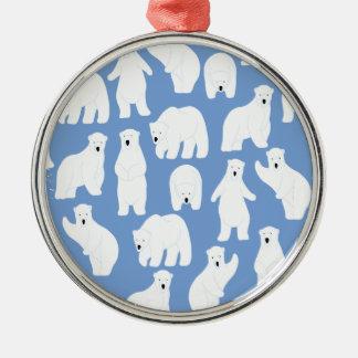 Polar Bear Day - Appreciation Day Silver-Colored Round Decoration
