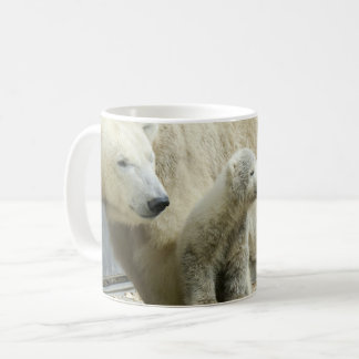 Polar bear family as cup