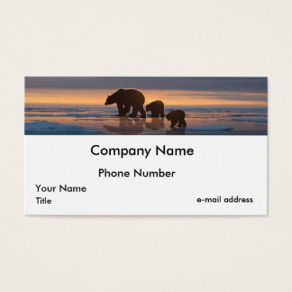 Polar Bear Family Business Card