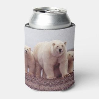 Polar Bear Family Can Cooler