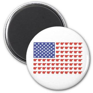 Polar-Bear-Flag[1] 6 Cm Round Magnet