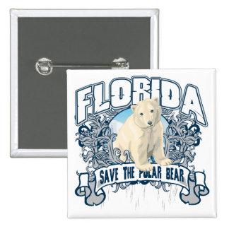 Polar Bear Florida 15 Cm Square Badge