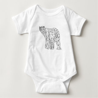 Polar Bear Geometric Abstract Animal Baby Shirt