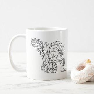 Polar Bear Geometric Abstract Shape Mug
