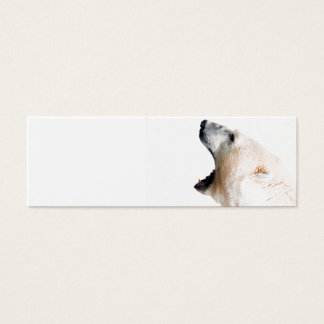 Polar bear growl mini business card