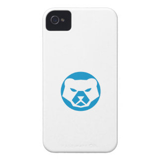 Polar Bear Head Circle Retro iPhone 4 Covers
