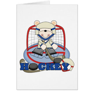 Polar Bear Hockey Goalie Tshirts and Gifts Card