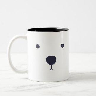 Polar Bear Hugs Two-Tone Coffee Mug