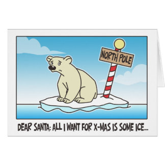 Polar Bear Ice Christmas Greeting Card