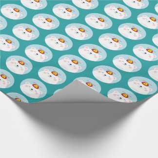 Polar Bear in a Propeller Hat Pattern Wrapping Paper