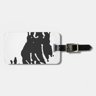 Polar Bear in Grey Luggage Tag