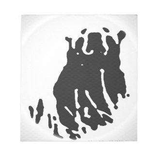 Polar Bear in Grey Notepad